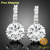 Free Shipping Arinna hoop earring fashion earring fashion jewelry crystal earring stud earring E2081