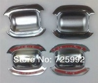 Free shipping/Car chrome door bowl cover/Geely MK MK-Cross ABS chromium outside door bowl cover/one set 4pcs/Wholesale+Retail