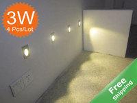 LED Stair light +3W+Aluminum finished+White/Warm white+AC85-364V +4pcs/Lot + Free shipping