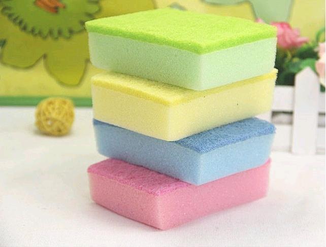 Wholesale Colorful Magic Sponge Eraser Melamine Cleaner / Multi-functional Sponge Cleaning 10pcs/set(China (Mainland))