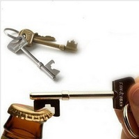 free shipping 20pcs/lot Key Shape Bottle Beer Can Opener Portable Keychain/Soda Tab Bottle Opener
