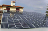 grid tie solar system, 12KW home solar generaror includes solar panels and12kw on grid  inverter, three phase output