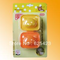 Hot Sale! Free Shipping Brand New Lovely Cartoon Rabbit and Bear Shape DIY Plastic Boiled Eggs Mold Bento Maker for Eggs