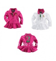 Hot selling ! wholesale 6pcs/lot 2013 Newest fashion Girl's Overcoat Kids Outwear Baby Clothing 2 colors