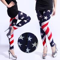2013 fashion women patns , USA star style trousers ,  american flag stripe leggings WTP0078
