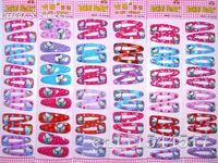 Free Shipping  Hello Kitty Hairwear cartoon Hair Clip for Girls  Mix Order