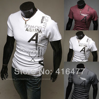 New Fashion Men's Short Sleeve Casual design T-shirt O neck T-shirt suppliers/manufacturer free shipping