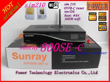 2013 decoder sim210 card  sunray 800HD se  300m Wifi , cable   tuner 800se WIFI  mini flashup button free shipping
