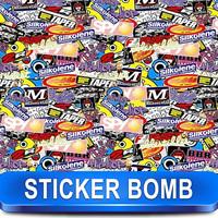 Stickerbomb Vinyl Wrapping Car Sheet Film barnd  Design  / Best Non-Pixelated print / Size: 1.5 x 30 Meter / K-3