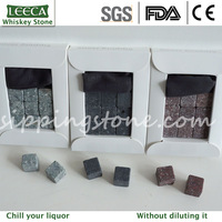 Free shipping  9 pcs/set whiskey stone rock sipping stone ice stone (MOQ: 3 set)