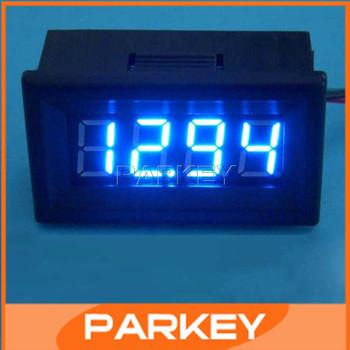"""4 Digit 0.36"""" Digital Voltmeter LED Blue Volt Meter DC 0-199V Voltage Monitor Meter For Auto Car Battery And DIY etc #200775"""