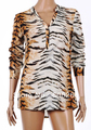 CHIC SEXY LONG SLEEVE V-NECK TIGER PRINT SHIRT BLOUSE TOP Free Shipping 5377