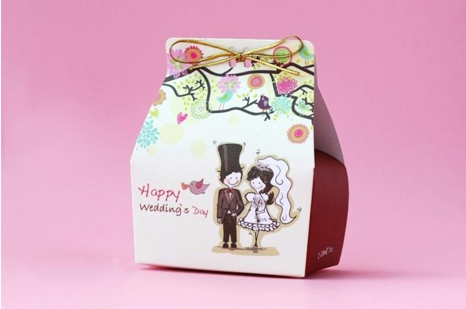 Love tree wedding favor candy boxes party honey gifts packing paper chocolate packaging , 200pcs/lot, Free shipping(China (Mainland))