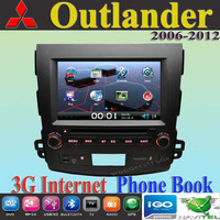 Car DVD Player autoradio GPS navi Mitsubish outlander 2006- 2010 2011 2012 + 3G internet + Russian menu + Free map