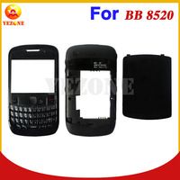 Original Full Housing For Blackberry Curve 8520 Complete Cover Case Replacement in Black Color; Free Shipping