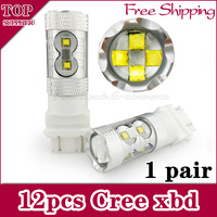 [Free Shipping 2pcs/lot ]3157 3057 3757A 4057 3056 3156 led 60w High Power Cree Vehicles Car Turn Signal Brake Lights Bulbs