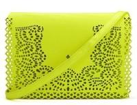 2013 TMC Designe Brand Handbag PU Baguette Messenger Day Cluth Bags Vintage Neon Message Crossbody Handbag JY009