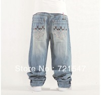 Plus-size jeans men wholesale and retail ,Fashion street style High quality pure cotton  loose type .Free shipping!