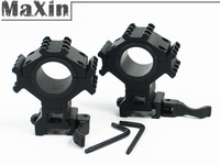 1 pair QD Adapter Tactical Tri-Rail 1'' 25.4mm/30mm ring Scope Mount Ring for Weaver Picatinny Rail