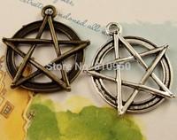 40pcs 31x28MM Alloy/Metal Antique Bronze  Star Charm Pendant ,Handmade DIY Vintage jewelry accessories