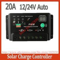 2013 New Arrival 20A 12V 24V Auto Solar Panel Battery Charge Controller Regulators