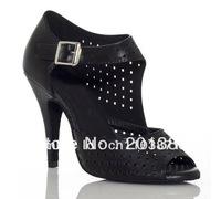Wholesale Women Black Leather Ballroom LATIN Dance Shoes SALSA Shoes New Jazz Shoes Tango Shoes 4,5,5.5,6,6.5,7,7.5,8,8.5,9,9.5