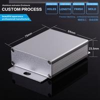 diy aluminum enclosure (50 piece ) 64*23.5*65mm(WxHxD) anodized aluminum
