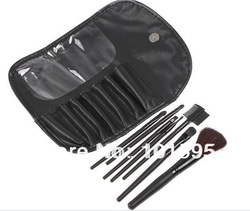 2013 new !! Professional 7 pcs Portable makeup brushes Eyeshadow Brush Cosmetic Brush set kits,Free Shipping(China (Mainland))