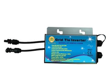 Intranet web-base Remote Monitoring System Wifi Communication Mppt micro grid tie inverter 200w 120v