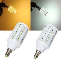 High Quality  LED Corn Light Lamp Bulb AC 220V E27 15W 60 leds 5730 SMD White & Warm Light Energy Saving Free Shippig