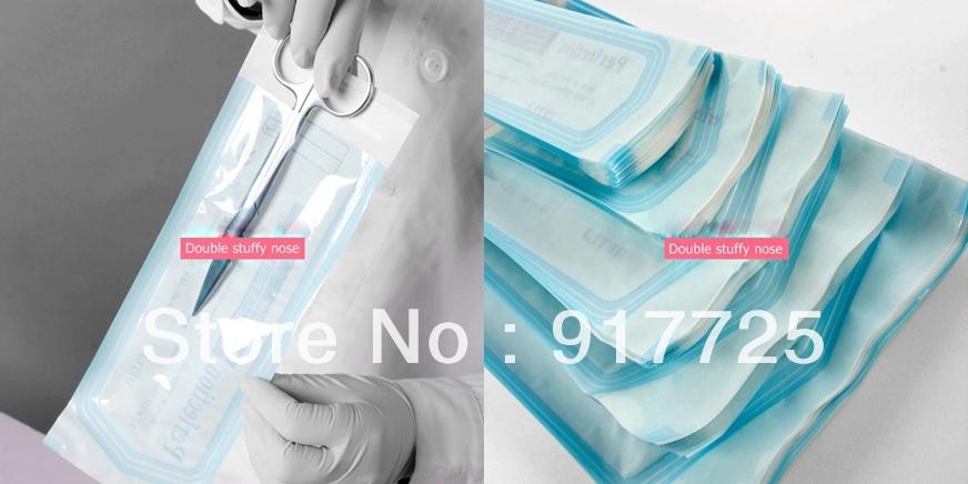 90mm*260mm ce selbst- Abdichtung sterilisationsbeutel muss nicht verschließmaschine für Klinik Krankenhaus desinfektion Paket 200/box