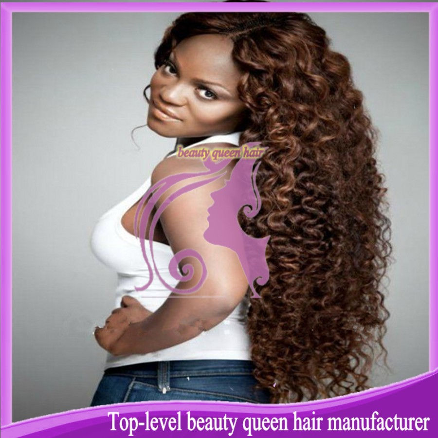 Queen hair wigs human hair kinky curl glueless full lace wig bleached knots natural scalp 130%-150% density free shipping !(China (Mainland))