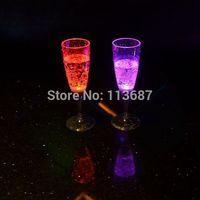 Hot Sale Plastic Eco-Friendly FDA  Liquid Active Champagne Glass(6 pcs/lot)