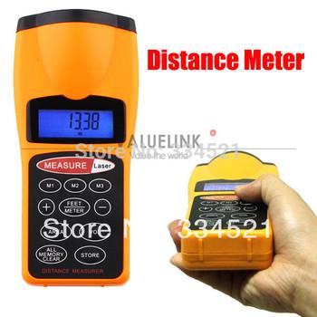 Laser Distance Meter Durable Ultrasonic Distance Measurer Area Volum Meter Laser Designator LCD Night Light Free shipping