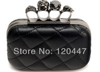 2014 new fashion brand Free shipping Black ghost Bag new hasp human skeleton coin purses for spring whole sale