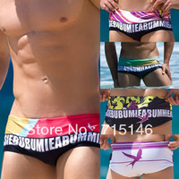 Free Shipping Men's Swiming Trunks Mens Swim Trunks Slim Swimwear  High Quality