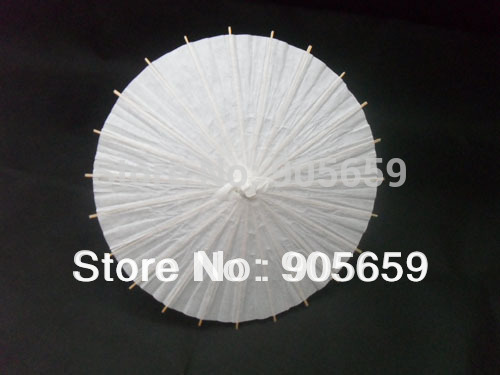 Free shipping (1000 pcs/lot) hand made 11.6 inches solid white paper parasols Decorative umbrellas Straight umbrellas(China (Mainland))