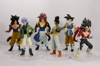 2013 New Dragon Ball Z GT Action Fiuger Toys Japanese Anime Figures PVC Goku/Vegeta 13CM 6pcs/set  Best Gifts  Free Shipping