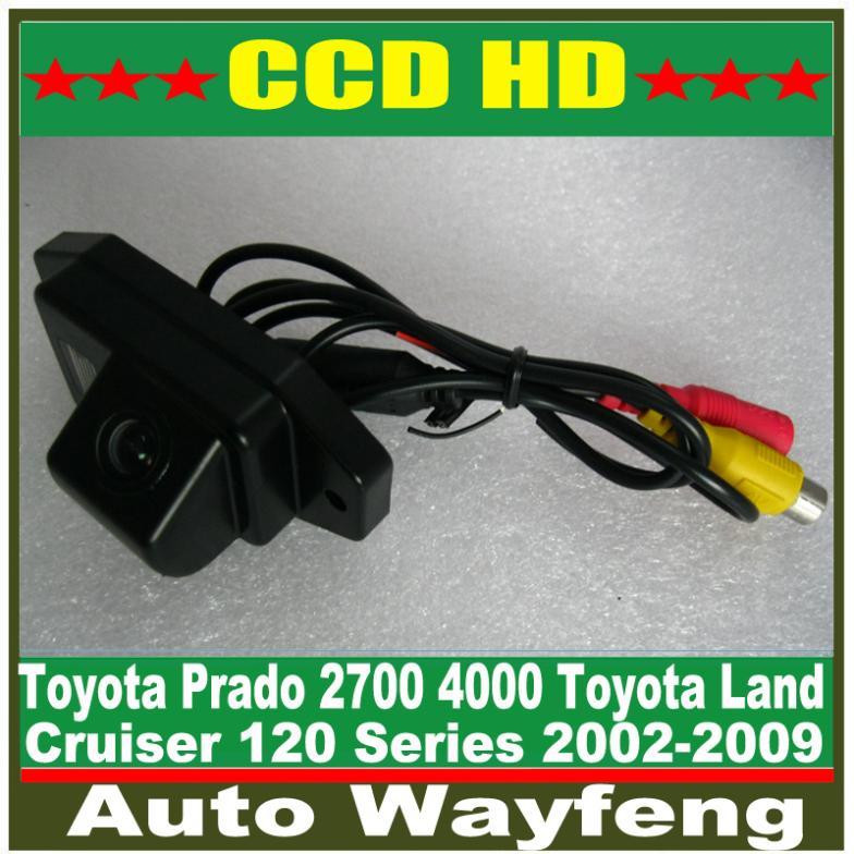 Free shipping HD CCD Car rear view camera backup camera for 2002-2009 Toyota Land Cruiser 120 Series Toyota Prado 2700 4000(China (Mainland))