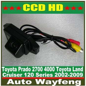Free shipping HD CCD Car rear view camera backup camera for 2002-2009 Toyota Land Cruiser 120 Series Toyota Prado 2700 4000