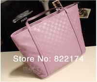 2014 hot sale fashion designer cheap women's pu leather candy color shopping Bags studded weekender tote handbags(551)