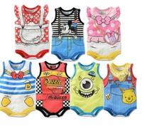 Baby Kids Bodysuits Fit 0-2Yrs Girl Boy Children Short Sleeve Bodysuit Infant One-Piece Cotton Clothing 21Pcs/Lot 7 Color 3 Size