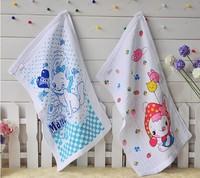 Free shipping! wholesale 100% cotton high quality children cartoon towels bath towel mixed colors 35x75cm 2pcs/lot