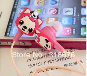 Cute Cartoon Earphone Iphone Ipad Ipod Itouch Earphone MP3 MP4 MP5 Earphone Samsung HTC Earphone(China (Mainland))