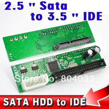 """Sata 2.5 3.5 inch to 3.5"""" IDE 44 pin HDD Hard Disk Driver Adapter Converter 22Pin Sata 15+7 Adaptor for ATA 100 133 HDD DVD CD"""