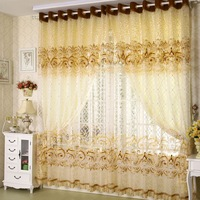 2013 Hot window curtain Gold quality jacquard window screen curtain balcony fashion modern cutout screens  fabric curtain blind