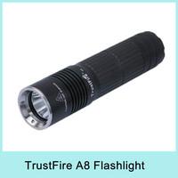 TrustFire A8 1000 Lumen US CREE XM-L T6 Mini LED Flashlight Torch 26650 Flashlight Light Lamp + Holster 5-Mode Drop Shipping