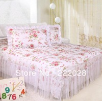 The white cotton cloth romantic dream lace gauze elastic fixed bed sheets bed skirt