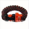 Free Shopping 2013 new Multi-color Paracord Outdoor Bracelets Whistle Buckle Paracord bracelet Cord Camping 3190