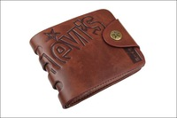 Promotion! Cowhide vintage wallet,Men's soft dough leather wallet,man Side buckle purse/wallet for men whosale price